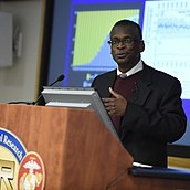 Dr. Lonnie Johnson, president and CEO at Excellatron, but probably best known as the inventor of the Super Soaker, talks about global energy and environmental challenges as part of the Office of Naval Research's (ONR) 70th Anniversary Edition Distinguished Lecture Series.